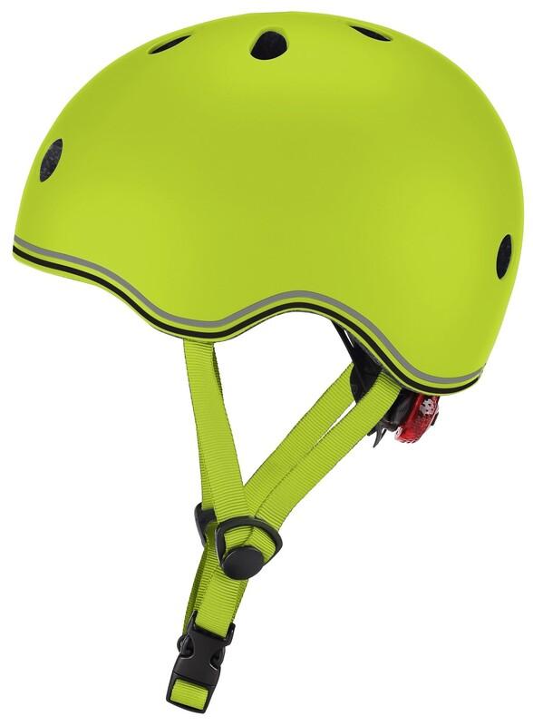 GLOBBER - Detská helma Go Up Lights Lime Green XXS/XS
