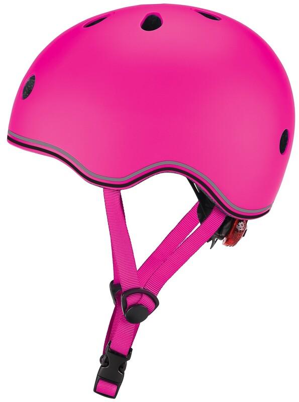GLOBBER - Detská helma Go Up Lights Neon Pink XXS/XS