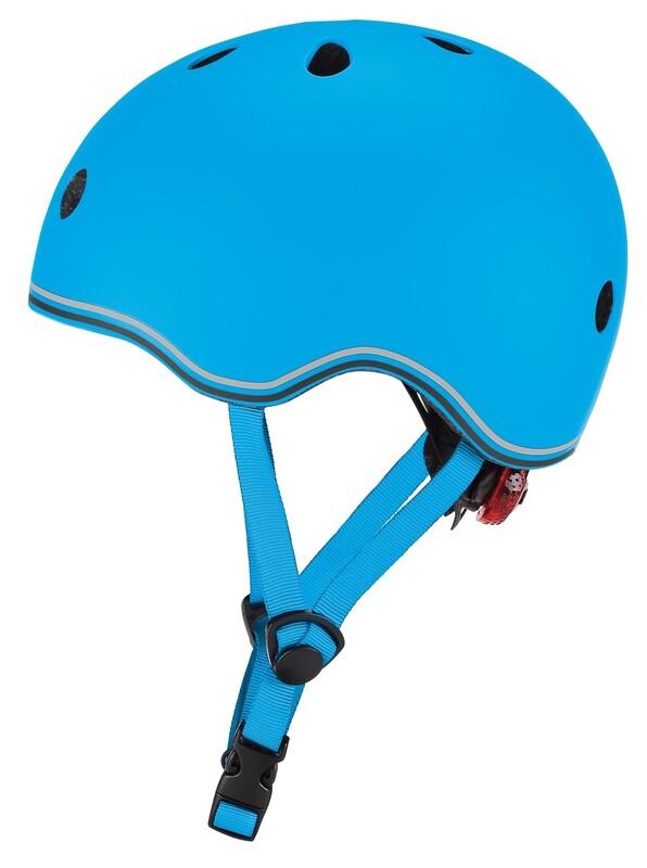GLOBBER - Detská helma Go Up Lights Sky blue XXS/XS
