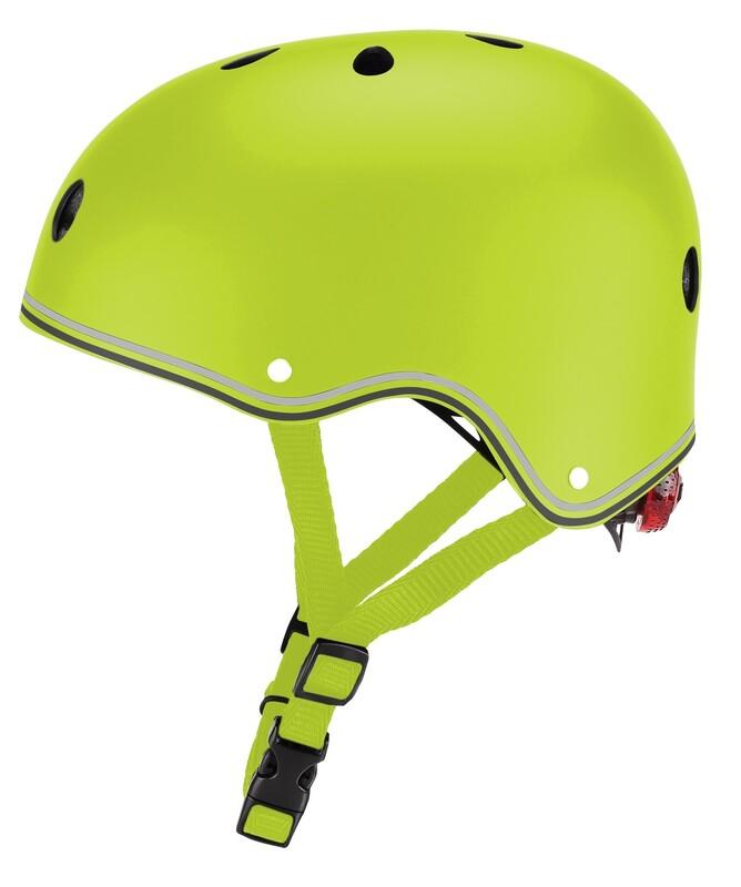 GLOBBER - Detská helma Primo Lights Lime Green XS/S