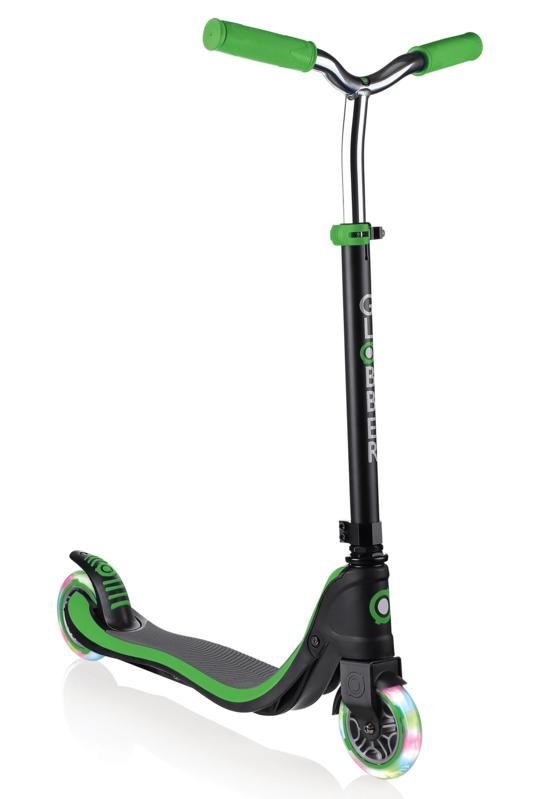 GLOBBER - Kolobežka Flow 125 Lights Black / Neon Green