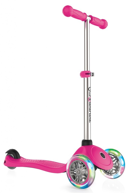 GLOBBER - Kolobežka Primo Lights Neon pink