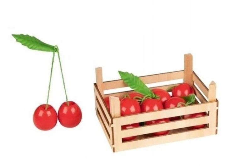GOKI - Drevený košík s čerešňami