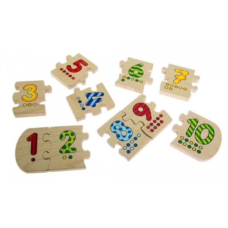 GOKI - Puzzle čísla od 1 do 10