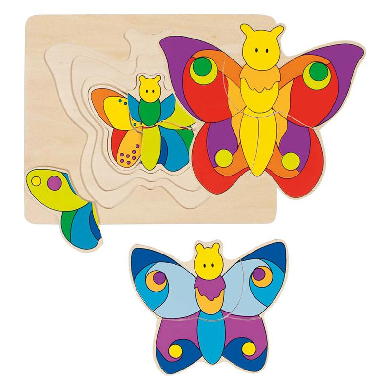 GOKI - Puzzle Motýľ 4 vrstvy 11ks