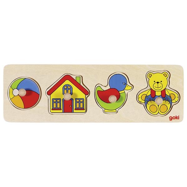 GOKI - Vkladacie puzzle Moje hračky 1