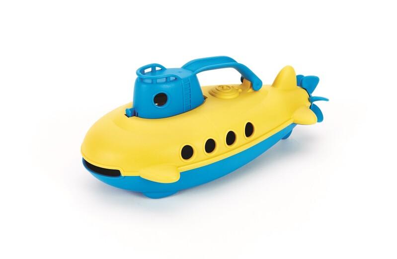 GREEN TOYS - Ponorka modrá rukoväť