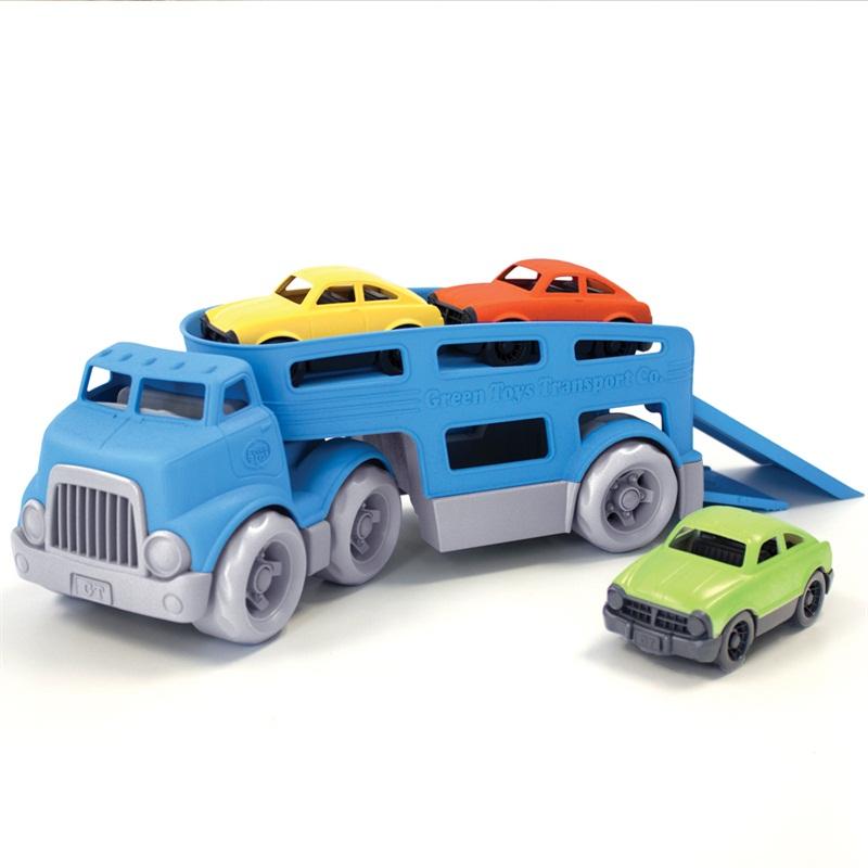 GREEN TOYS - tahač s autami