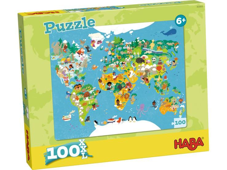 HABA - Puzzle Mapa sveta 100ks