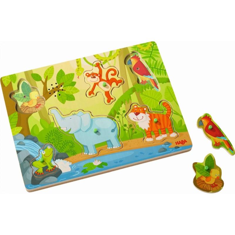 HABA - Vkladacie puzzle hudobné Džungľa