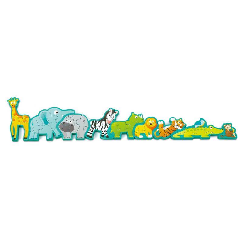 HAPE - Drevené puzzle Zvieratká a abeceda