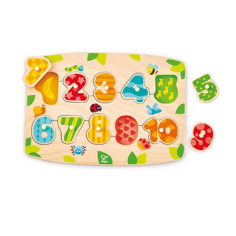 HAPE - Vkladacie puzzle Čísla 1-10