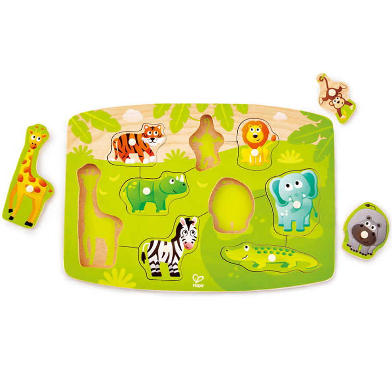 HAPE - Vkladacie puzzle Džungľa