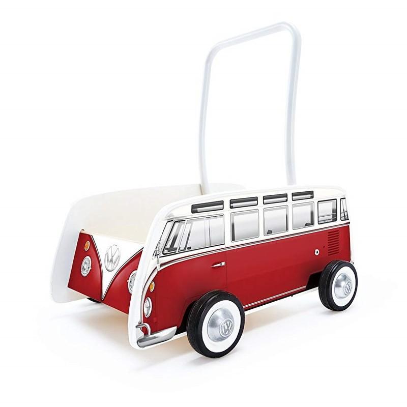 HAPE - Vozík na tlačenie VW bus T1 červený