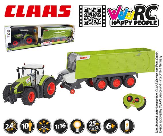HAPPY PEOPLE - Rc Claas Axion + Claas Cargos