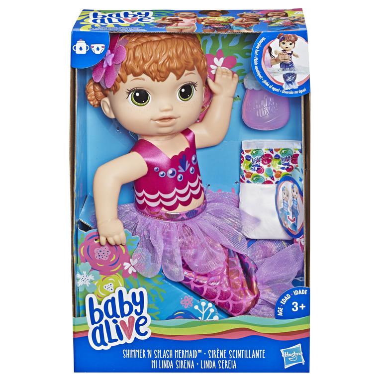 HASBRO - Baby Alive ryšavá morská panna