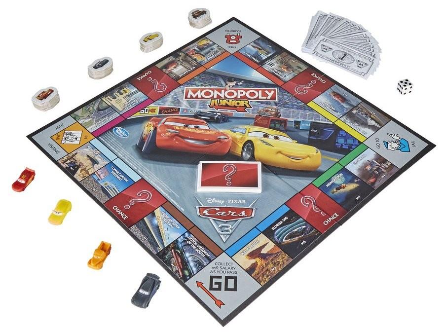 HASBRO - Monopoly Junior Cars 3 C1343