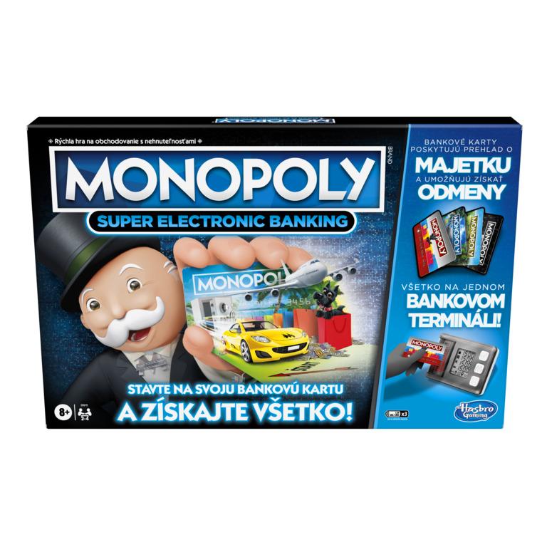 HASBRO - Monopoly Super elektronické bankovníctvo SK verzia
