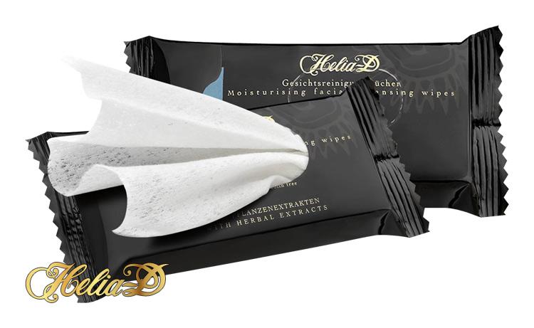 HELIA-D - Hydratačné čistiace obrúsky na tvár 10 ks