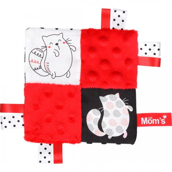 HENCZ TOYS - Edukačná hračka šustík - mačky, červená