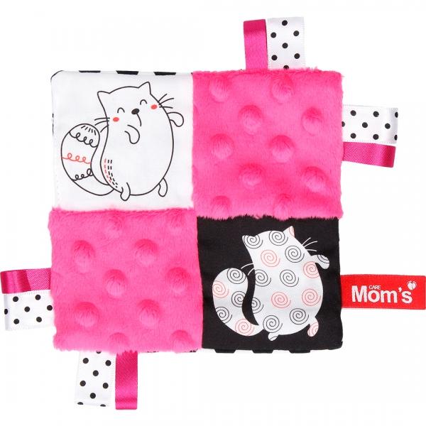 HENCZ TOYS - Edukačná hračka šustík - mačky, růžová