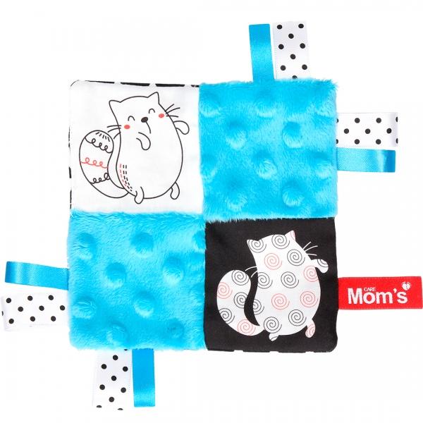 HENCZ TOYS - Edukačná hračka šustík - mačky, tyrkysová