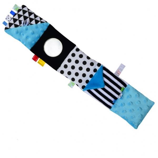 HENCZ TOYS - Mini textilná knižka - modrá
