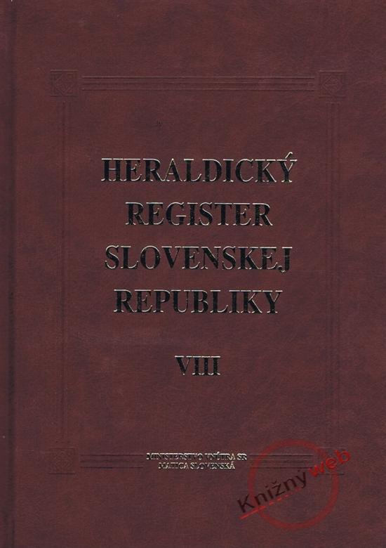 Heraldický register SR VIII - Peter Kartous, Ladislav Vrteľ .
