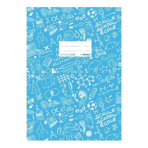 HERMA - Obal na zošit Schooldoo A4 modrý /1ks