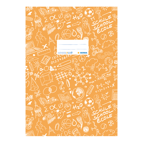 HERMA - Obal na zošit Schooldoo A4 oranžový /1ks