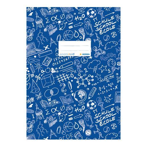 HERMA - Obal na zošit Schooldoo A4 tmavo modrý /1ks