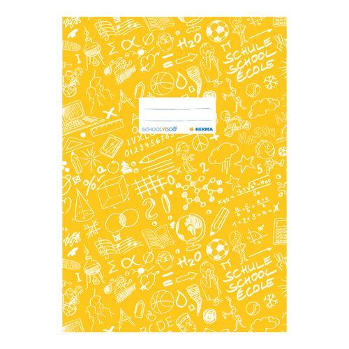 HERMA - Obal na zošit Schooldoo A4 žltý /1ks
