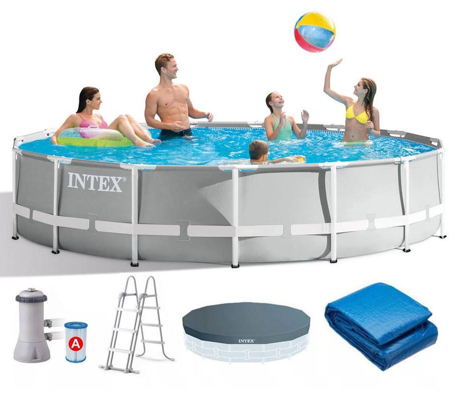 INTEX - 26724 Bazén Prism Frame s kartušovou filtráciou 457x107cm