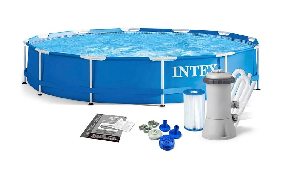 INTEX - 28212 Bazén Metal Frame Pool Set 366x76cm