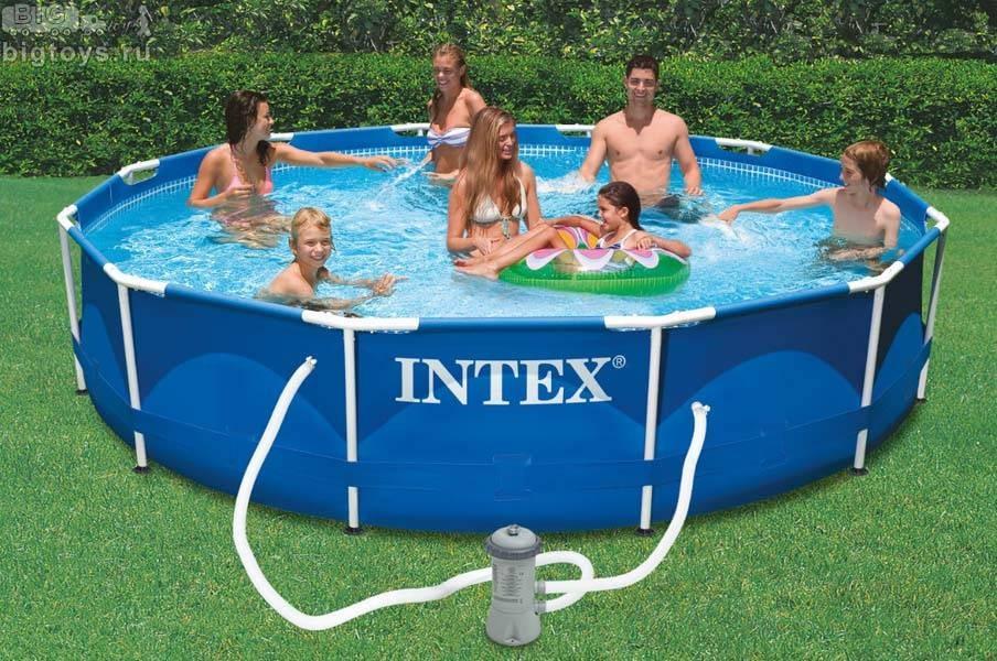 INTEX - Bazén Metal Frame 457 x 122 cm s kartušovou filtráciou 28242