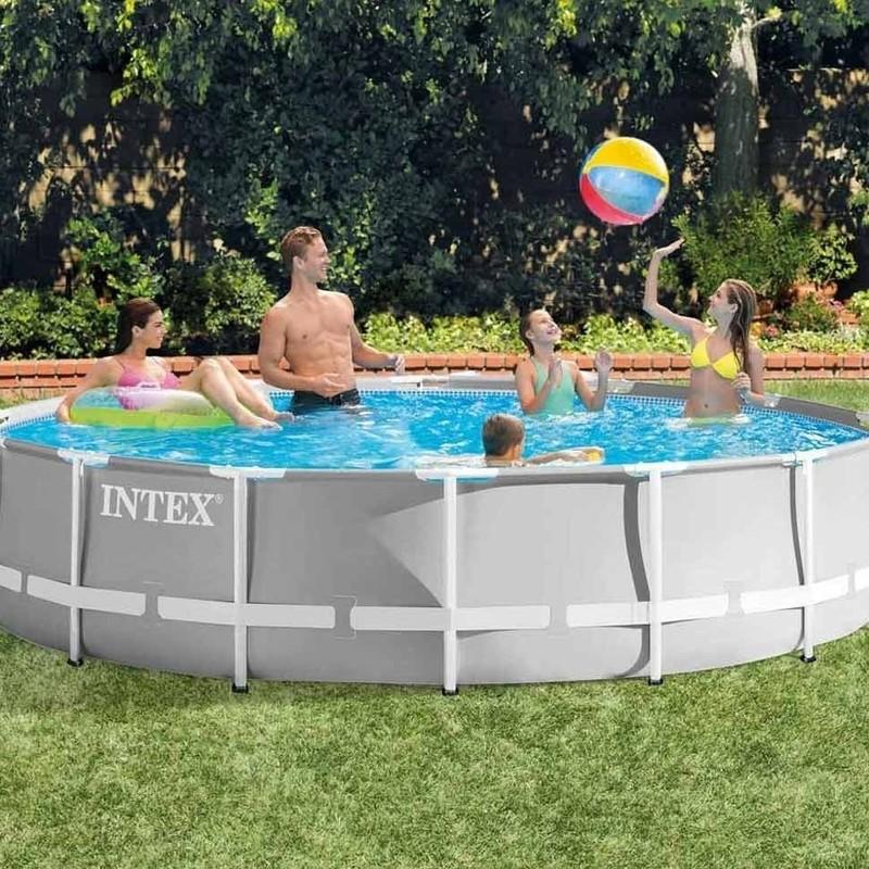 INTEX - Bazén Prism Frame 457 x 107 cm s filtračným zariadením 26724