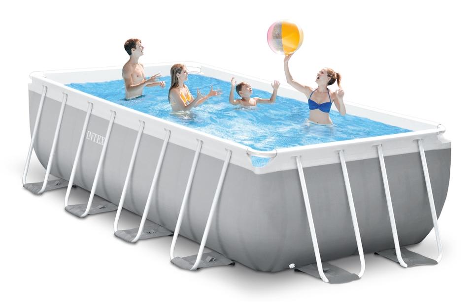 INTEX - Bazén Prism Frame Rectangular Pools 4,88 x 2,44m x 1,07m, s filtráciou 26792NP
