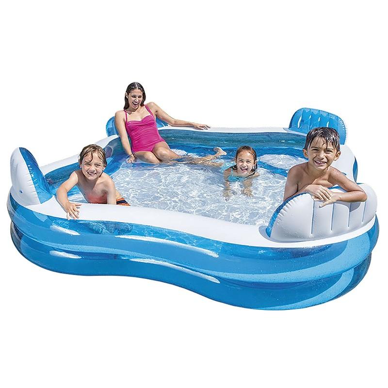 INTEX - bazén Swim center štvorcový Family lounge 56475