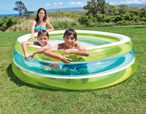 INTEX - nafukovací detský bazén Priehľadný 57489