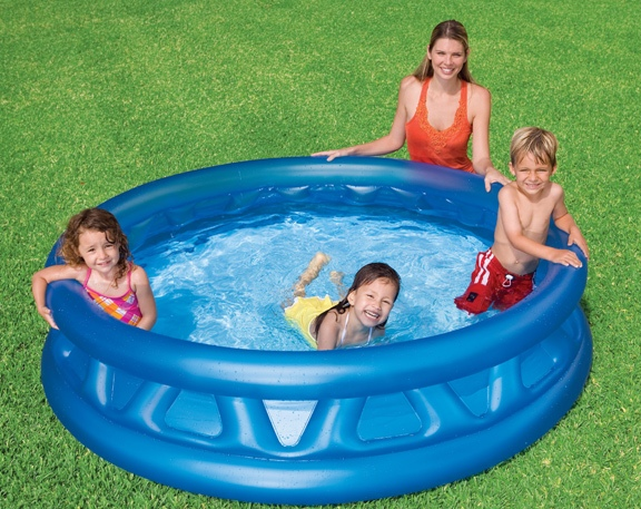 INTEX - nafukovací detský bazénik s plastickým vzorom 58431