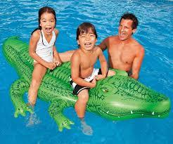 INTEX - Nafukovací krokodíl s držadlami veľký 58562