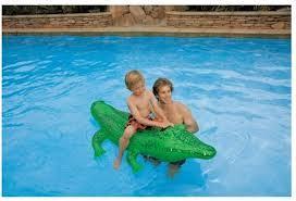 INTEX - Nafukovací krokodíl s držadlom