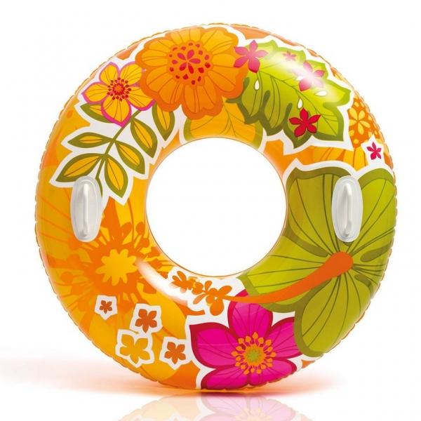 INTEX - Nafukovací kruh Hawaii s úchytmi, 97 cm