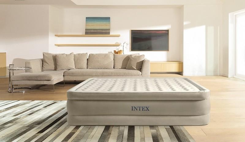 INTEX - nafukovacia posteľ 644428 Ultra Plush Queen s integrovanou elektrickou pumpou