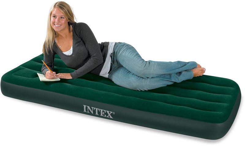 02cc5f02c4e72 INTEX - nafukovacia posteľ 66950 Junior Twin Downy s integrovanou pumpou