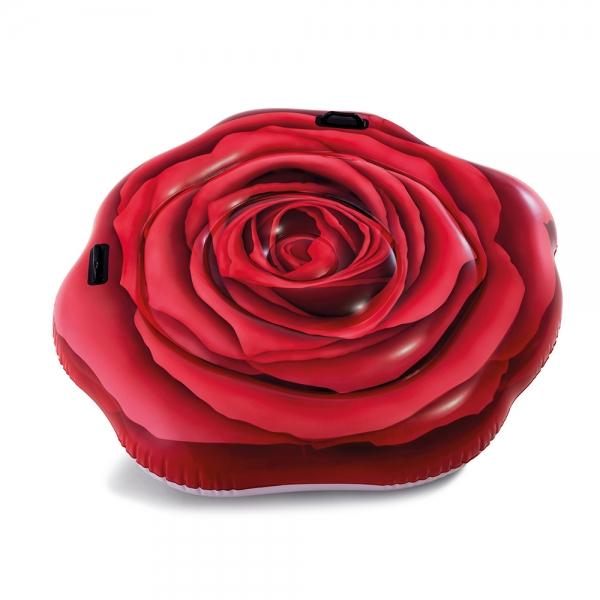 INTEX - Nafukovacie lehátko Červená ruža 137 x 132 cm