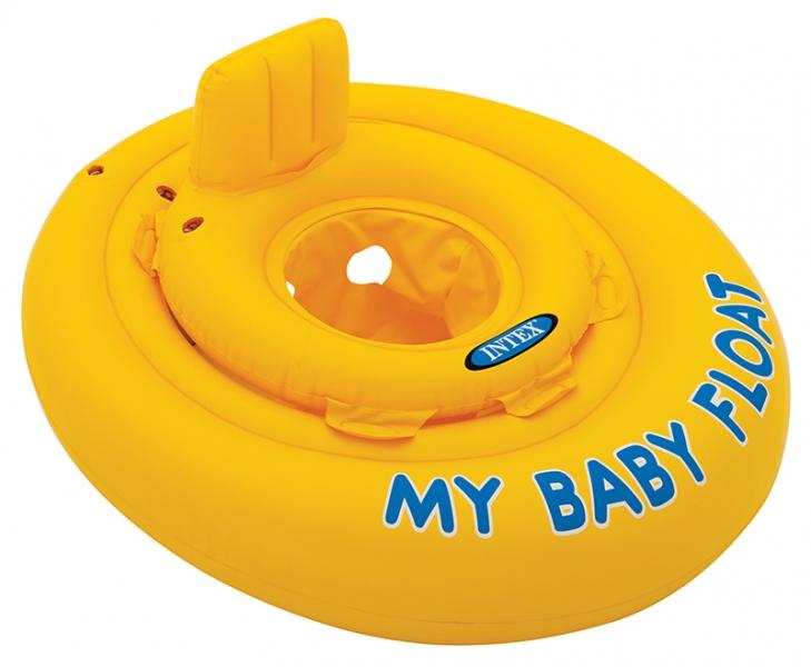 INTEX - Nafukovacie plavátko žlté, okrúhle, 70 cm