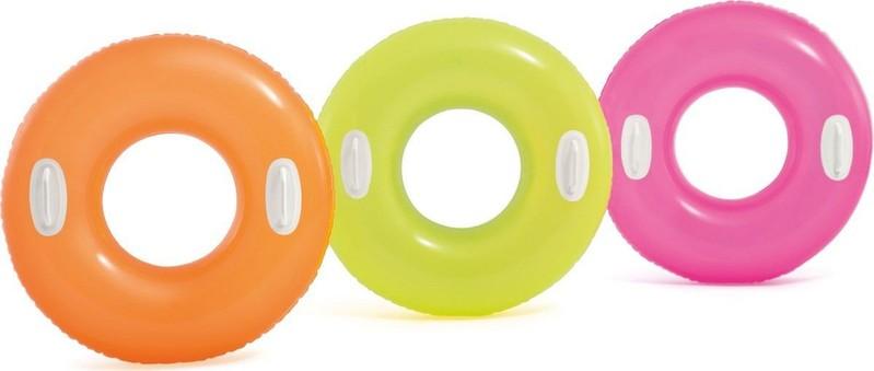 INTEX - Plávací kruh s úchytmi 76cm zelený