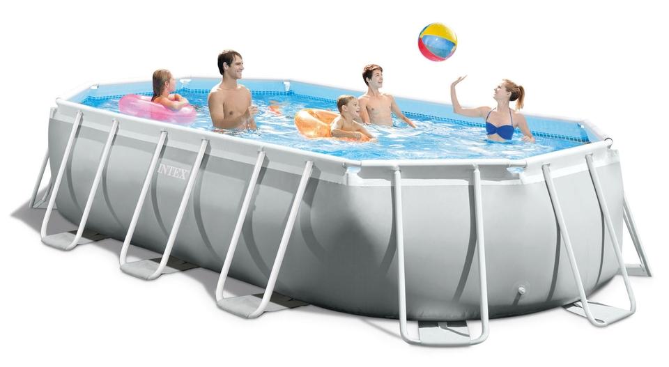 INTEX - Záhradný bazén 26796 Prism Frame Oval 503 x 274 x 122 cm kartušová filtrácia