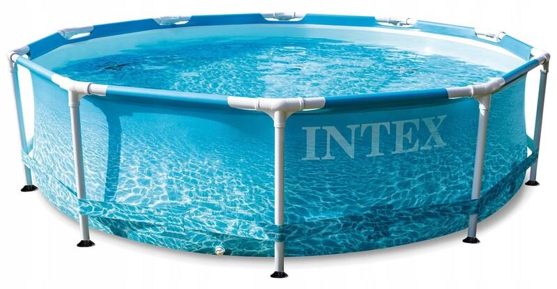 INTEX - Záhradný bazén Beachside Metal Frame 305 x 76 cm s kartušovou filtráciou